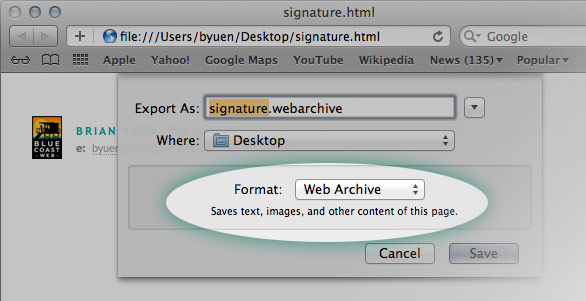 Creating Complex Html Email Signatures In Mailapp For Mac Osx Lion
